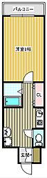 フォレストインサイドII[207号室]の間取り