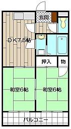 エメラルドマンション砂津 304号[304号室]の間取り