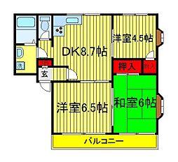 ロイヤルセピア1・2[2階]の間取り