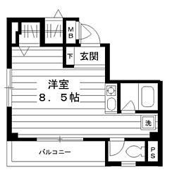 神奈川県横浜市神奈川区泉町の賃貸マンションの間取り