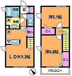 [テラスハウス] 東京都調布市下石原3丁目 の賃貸【/】の間取り