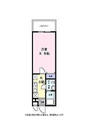 戸塚区品野町 サンライズヒダ301号室[3階]の間取り