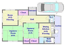 [一戸建] 兵庫県神戸市垂水区王居殿2丁目 の賃貸【兵庫県 / 神戸市垂水区】の間取り