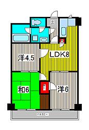TOEI MANSION[5階]の間取り