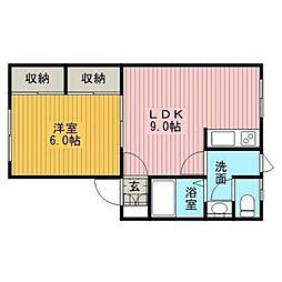 プラザ文京台A[1階]の間取り