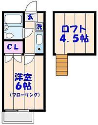 オラシオンT[212号室]の間取り