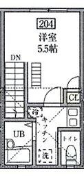 MUSASHI  HOUSE bt[204kk号室]の間取り