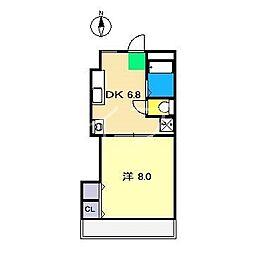 ライフピア岡田[3階]の間取り