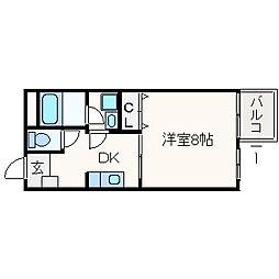 チェリーコート[1階]の間取り
