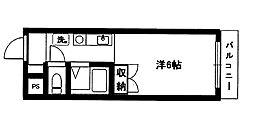 パークサイド石坂[4階]の間取り
