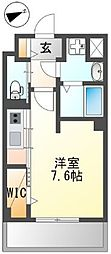 JR武蔵野線 東浦和駅 徒歩9分の賃貸マンション 1階ワンルームの間取り