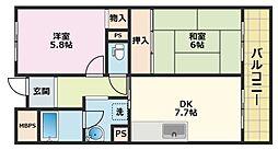 クレスト塚西[1階]の間取り