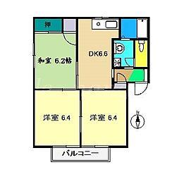 メゾンエトワールB棟[1階]の間取り