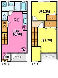 [テラスハウス] 千葉県千葉市中央区星久喜町 の賃貸【/】の間取り
