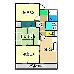 山崎ハイツ(桟橋)[1階]の間取り