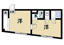 諏訪東生駒ビル[5階]の間取り