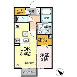 (仮)D-room西本町 B棟[102号室]の間取り