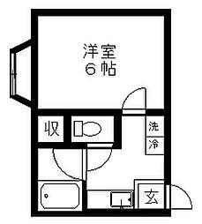新潟県新潟市北区高森新田の賃貸アパートの間取り