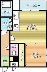 Grand Premium三萩野[1階]の間取り