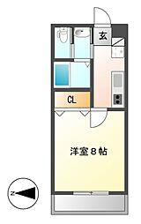 ボタニカルコート[3階]の間取り