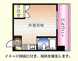 第13片山ビル[502号室]の間取り