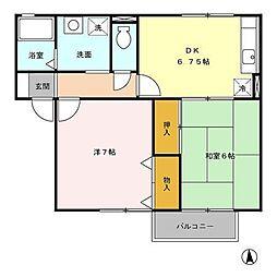フローラM[2階]の間取り