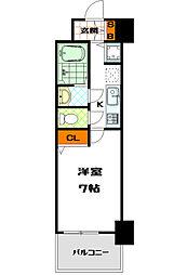ユーカ心斎橋東[10階]の間取り