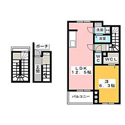 フィオーレ302[3階]の間取り