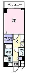 東京都府中市矢崎町1丁目の賃貸マンションの間取り