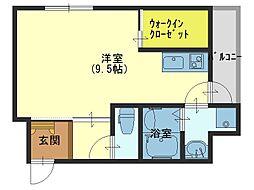 大阪府大阪市東成区大今里3丁目の賃貸アパートの間取り