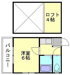 福岡県福岡市東区和白4丁目の賃貸アパートの間取り
