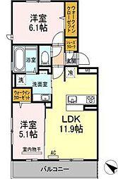 (仮)D-room吉塚5丁目[3階]の間取り