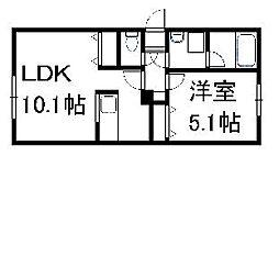 北海道札幌市豊平区平岸四条1丁目の賃貸マンションの間取り