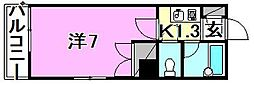 ベルジュ三番町[703 号室号室]の間取り