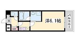 チサンマンション三宮[2階]の間取り