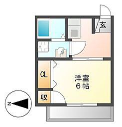 菊富士マンション[1階]の間取り