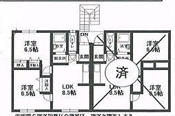 北海道釧路市星ヶ浦北カイタクハウス[2F左号室]の間取り