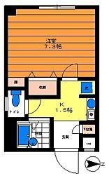 テラス桜川[301号室]の間取り