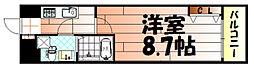 No.65 クロッシングタワーORIENT BLD.[810号室]の間取り