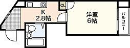 ハイツ福龍[3階]の間取り