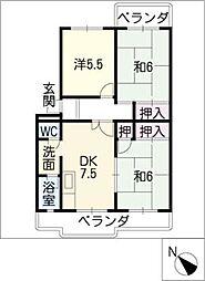 ハイツYAMANI[4階]の間取り