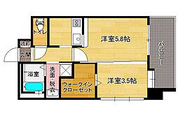 エンクレストGRAN博多駅前[2階]の間取り