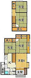 [一戸建] 鳥取県米子市奥谷 の賃貸【/】の間取り