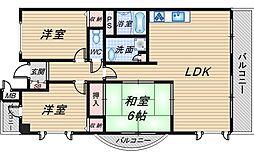 大阪府豊中市向丘3丁目の賃貸マンションの間取り