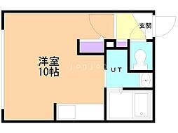 仮)Raffine大通東7 4階ワンルームの間取り