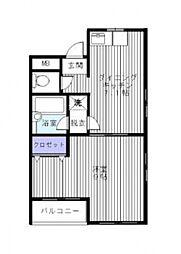 ヴィラハシモト[2階]の間取り