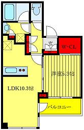 JR山手線 大塚駅 徒歩9分の賃貸マンション 9階1LDKの間取り