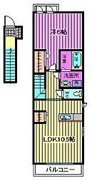 ハウス リアン[2階]の間取り