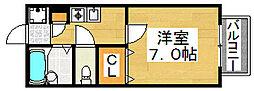 パセオ西之町[1階]の間取り