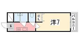 メゾン・ド・姫路野里[601号室]の間取り